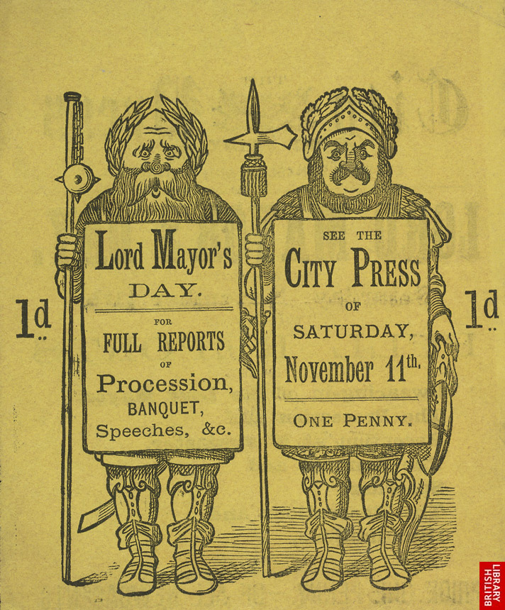 Advert for the City Press, newspaper, reverse side